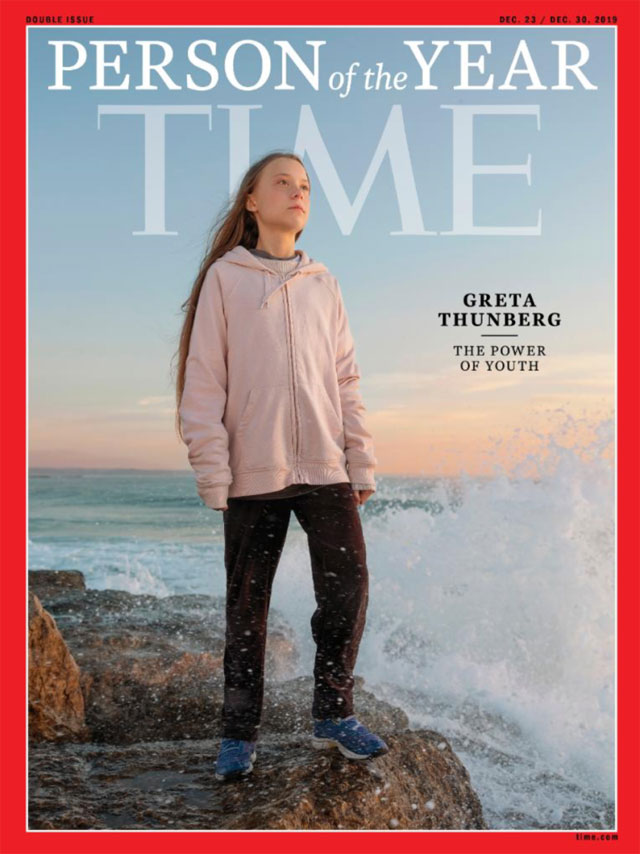 Greta Thunberg is named Time Magazine's Person of the Year for her clarion call to the climate change crisis
