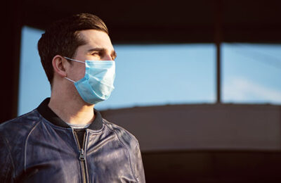 A man wearing a face mask during the pandemic