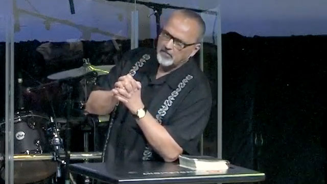 Pastor Paul Van Noy holds open church services during COVID-19 pandemic