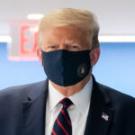 Donald Trump wearing a face mask