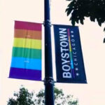 Photo of a street sign in Chicago's Boystown, gay neighborhood