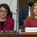 Sen. Dianne Feinstein and Judge Amy Coney Barrett