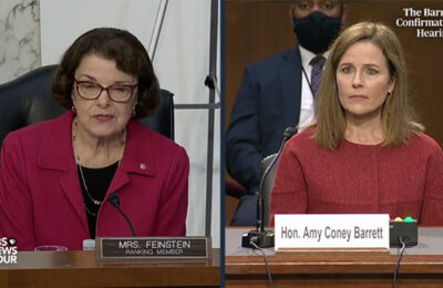 Sen. Dianne Feinstein and Judge Amy Coney Barrett
