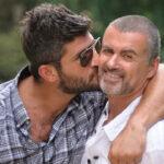 George Michael and his then-boyfriend Fadi Fawaz in 2012