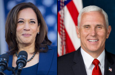 Vice President-elect Kamala Harris and Vice President Mike Pence