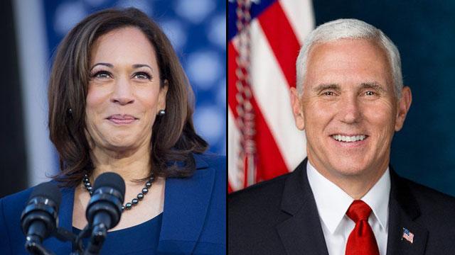 Vice President-elect Kamala Harris and Vice President Mike Pence
