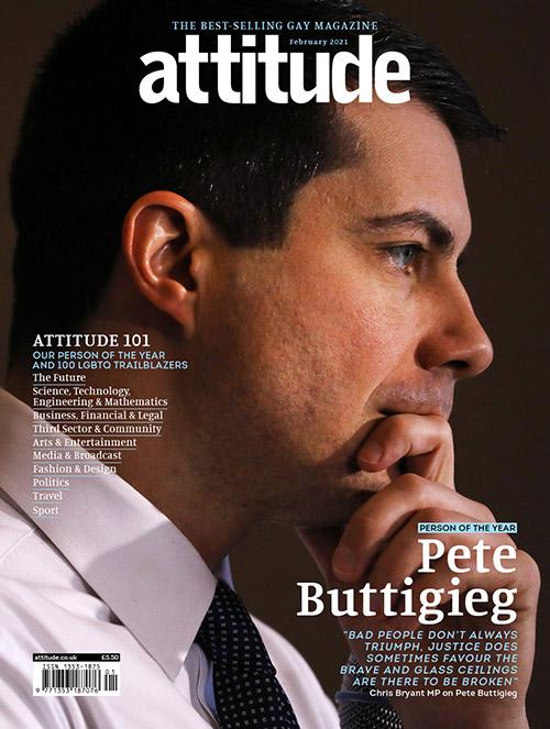 Pete Buttigieg covers Attitude Magazine as their 'Person of the Year'