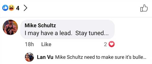Schultz commented that he might have a lead as to who GaysOverCovid might be