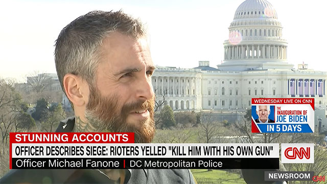 Capitol Police officer Michael Fanone