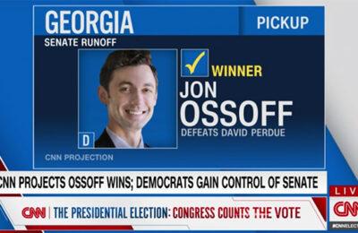 Jon Ossoff projected to win his Senate race in Georgia