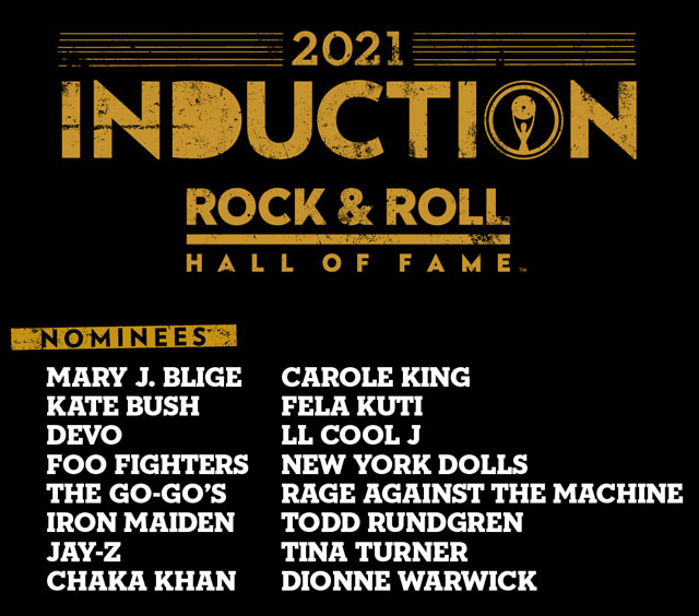 The 2021 Rock & Roll Hall of Fame nominees