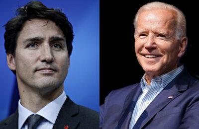 Canadian Prime Minister Justin Trudeau, President Joe Biden
