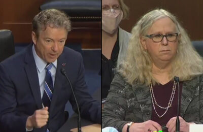 Left to right - Sen. Rand Paul of Kentucky and Pennsylvania Surgeon General Dr. Rachel Levine