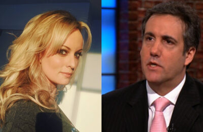 Porn star Stormy Daniels and former Trump lawyer Michael Cohen
