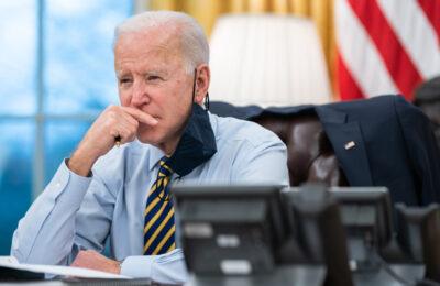 President Joe Biden in the Oval Office