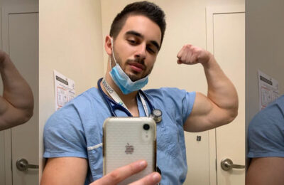 InstaHunk Dr. Marco (RunAndLift) was pumped up after a 16-hour hospital shift