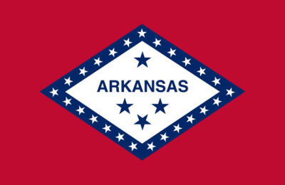 The state flag of Arkansas