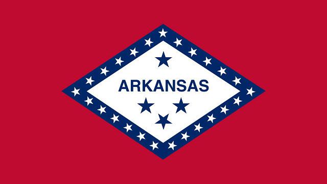 The state flag of Arkansas