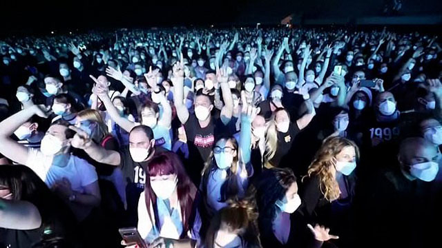 Thousands attend a rock concert in Barcelona after being tested for COVID