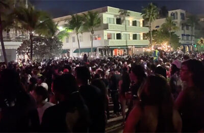 Curfew in Miami Beach didn't go so well and thousands still partied in the streets