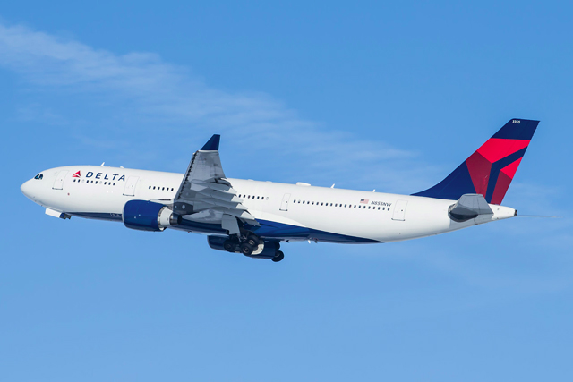 Photo of a Delta Airlines plane