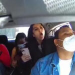 Uber driver being assaulted by three women refusing to wear face masks during pandemic