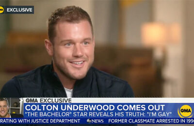 Colton Underwood of 'The Bachelor' comes out as gay