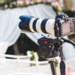 Photo of an abandoned camera at a wedding