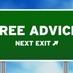"""Sign that reads """"Free Advice"""""""