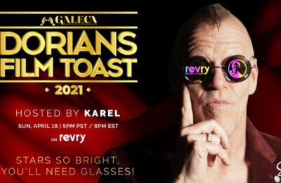 Don't miss the Dorian Film Toast 2021 this Sunday, April 19 at 8pm ET/5pm PT