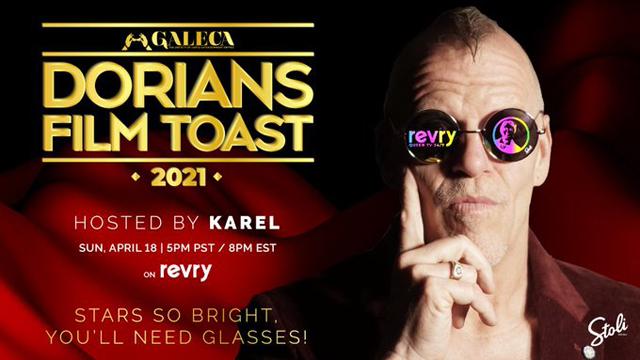Don't miss the Dorian Film Toast 2021 this Sunday, April 19 at 8pm ET/5pm PT