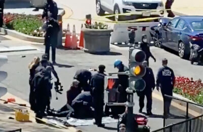 Two Capitol Police officers were injured when a driver struck them near the north entrance of the U.S. Capitol Building