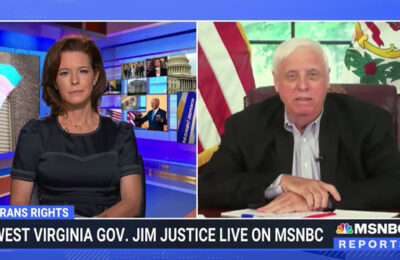 MSNBC's Stephanie Ruhle asks West Virginia Gov. Justice why address trans girls in sports versus larger more pressing issues in his state?
