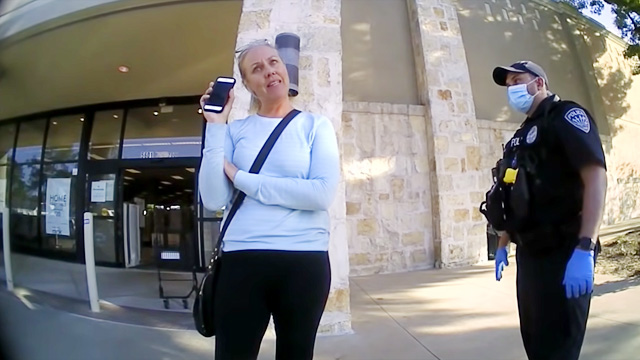 Kara 'Karen' Bell refused to identify herself to officers after refusing to wear a face mask in a Nordstrom Rack