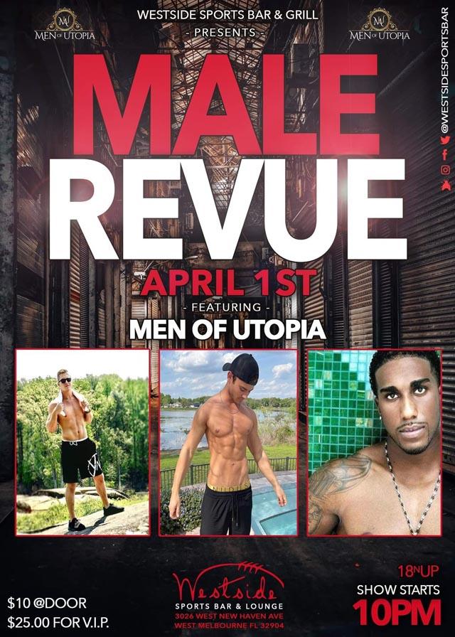 Poster for Men of Utopia all-male revue