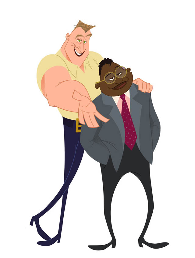 The animated characters of Barry and Randall Leibowitz-Jenkins