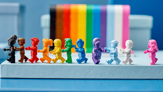 Lego is issuing its first-ever rainbow set for Pride 2021