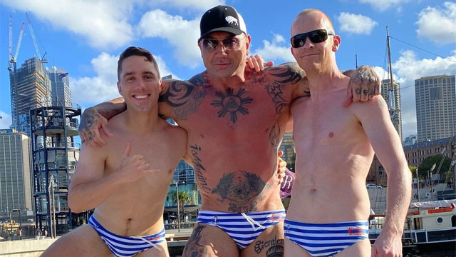 Guardians of the Galaxy star Dave Bautista and friends