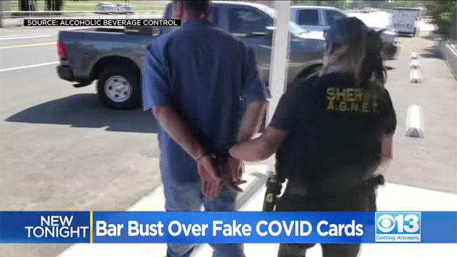 Bar owner arrested for selling fake COVID-19 vaccination cards