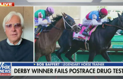 Horse trainer denies doping charges after his horse tested positive for banned substance after winning Kentucky Derby