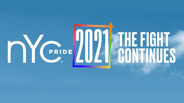 The logo for NYC Pride 2021