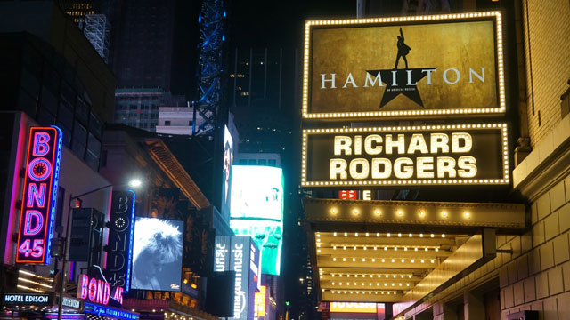 Broadway's HAMILTON at the Richard Rodgers Theater