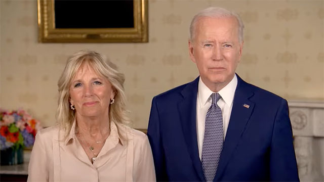 President Joe Biden and First Lady Jill Biden send a message to the LGBTQ community for Pride Month