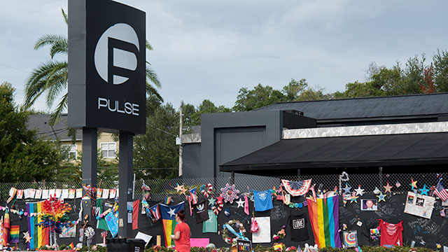 Photo from the front of Pulse Nightclub in Orlando, Florida