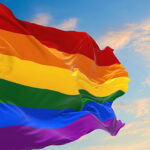 Pride flag flies in the breeze