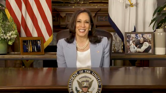 Vice President Kamala Harris shared a video greeting for Pride Month