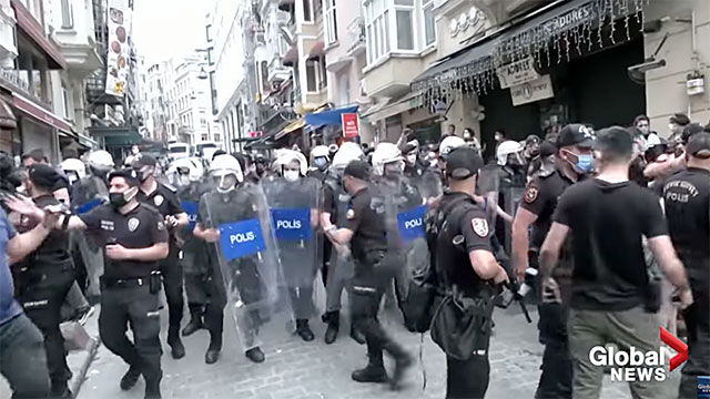 Police fired tear gas and rubber bullets at participants of an LGBTQ Pride event in Instanbul