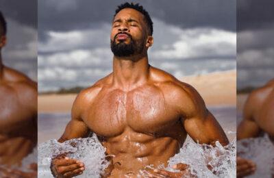 Fitness expert Joel Green was feeling free in the ocean this week