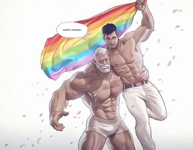 The oh-so-talented Silverjow celebrates Pride month via his 'hunks of the week'