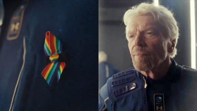 Billionaire Richard Branson wore a Pride ribbon into space to honor those killed in the dealy Pulse Nightclub shooting
